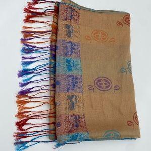Pashmina cashmere multicolor scarf